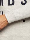 Свитшот меланжевый с надписью oodji #SECTION_NAME# (белый), 5L113102M/44506N/1279P - вид 5
