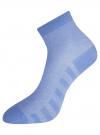 Комплект из трех пар хлопковых носков oodji #SECTION_NAME# (разноцветный), 57102711T3/48022/9