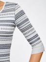 Платье жаккардовое с геометрическим узором oodji #SECTION_NAME# (синий), 14001064-5/46025/7079G - вид 5