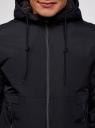 Куртка на молнии с утепленным капюшоном oodji #SECTION_NAME# (синий), 1L512017M/25276N/7900N - вид 4
