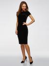 Платье миди с вырезом на спине oodji #SECTION_NAME# (черный), 24001104-8B/48621/2900N - вид 6
