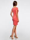 Платье трикотажное с вырезом-лодочкой oodji #SECTION_NAME# (красный), 14001117-2B/16564/4300N - вид 3