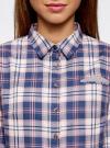 Рубашка принтованная хлопковая oodji #SECTION_NAME# (синий), 11406019/43593/7540C - вид 4