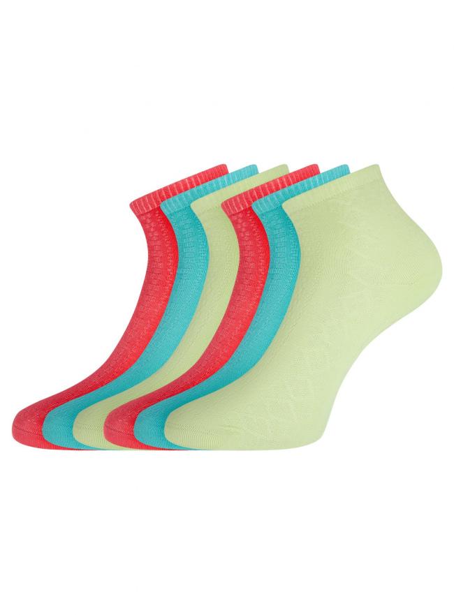 Комплект ажурных носков (6 пар) oodji для женщины (разноцветный), 57102709T6/48022/6