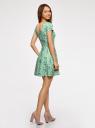 Платье приталенное с V-образным вырезом на спине oodji #SECTION_NAME# (зеленый), 14011034B/42588/6583F - вид 3