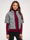 Куртка стеганая принтованная oodji для женщины (белый), 10207002-1/45419/1029E - вид 2