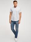 Рубашка принтованная приталенного силуэта oodji #SECTION_NAME# (белый), 3L210036M/19370N/1079E - вид 5
