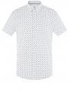 Рубашка принтованная приталенного силуэта oodji #SECTION_NAME# (белый), 3L210036M/19370N/1079E - вид 6