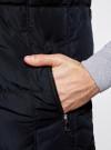 Жилет с воротником-стойкой и капюшоном oodji #SECTION_NAME# (черный), 1B812000M/44330N/2900N - вид 4